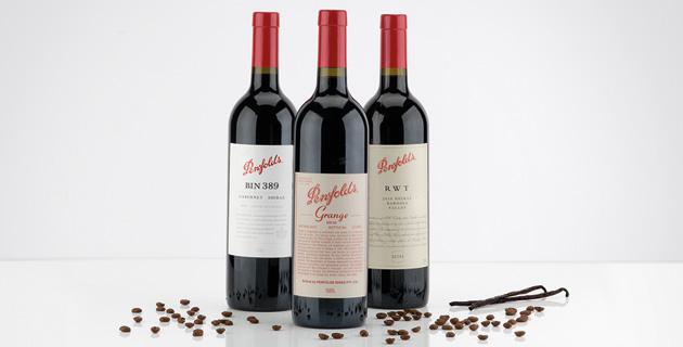 Penfolds Rotweine – ein australischer Dreiklang