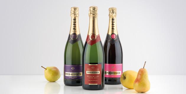 Das Champagner-Trio aus dem Hause Piper-Heidsieck