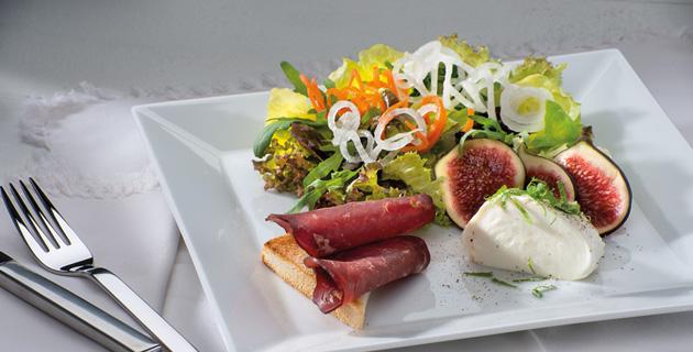 Salatvariationen mit Wildschweinschinken